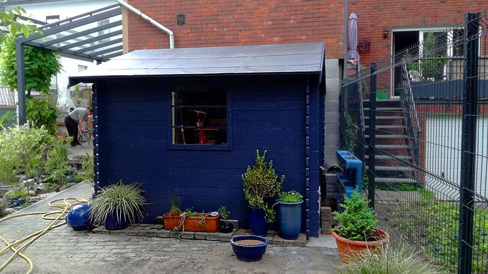 Abrit de jardin bleu